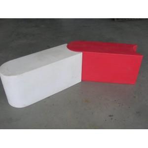 Plastová bariéra 1m - gokart